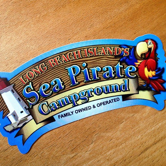 Full color die-cut stickers for Sea Pirate made by Websticker