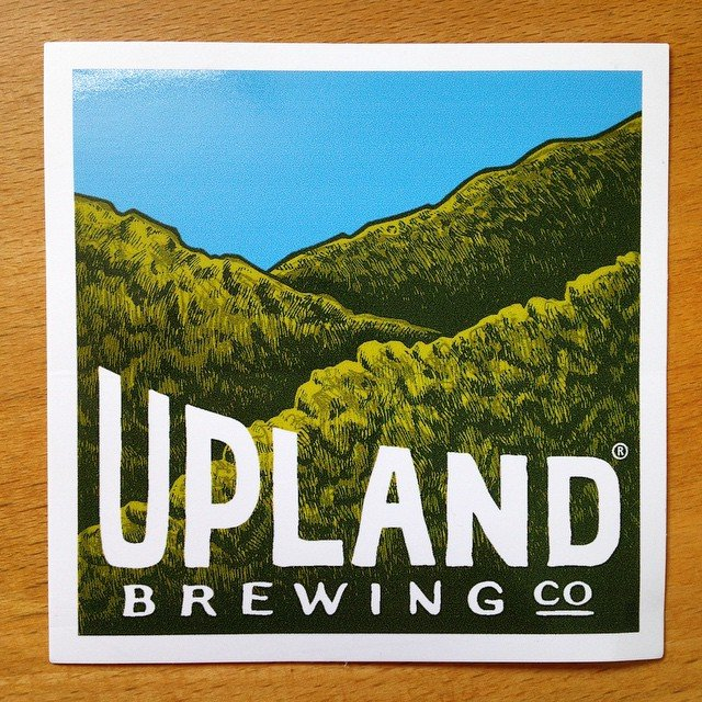 custom square vinyl sticker made by Websticker for Upland Brewing