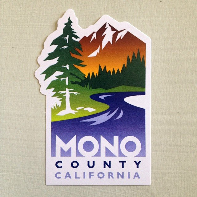 Custom diecut stickers for Mono County digitally printed by Websticker