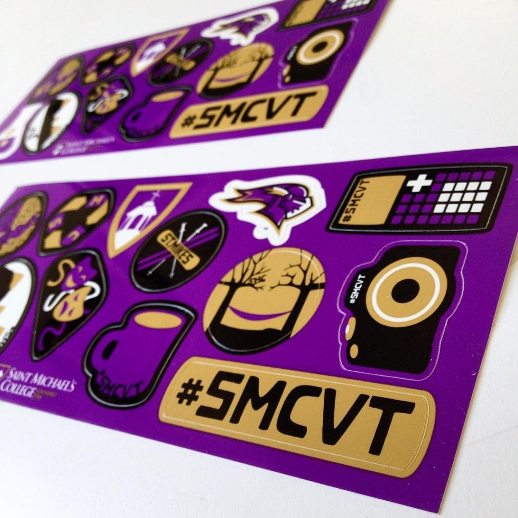 Custom vinyl sticker sheets made for st michaels college by websticker