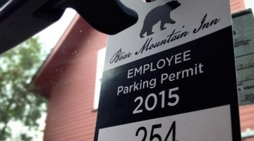 Custom printed hanging parking permit with consecutive numbering