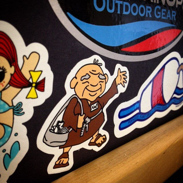 a few custom diecut vinyl stickers printed by Websticker