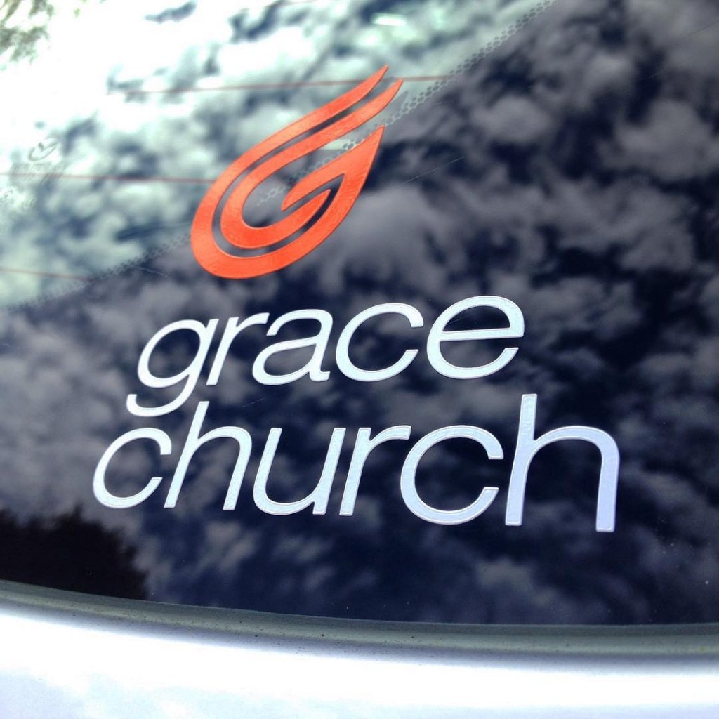 grace church custom vinyl cut decals made by websticker