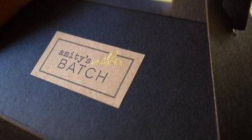 Amity's Batch roll labels on Kraft paper made by Websticker