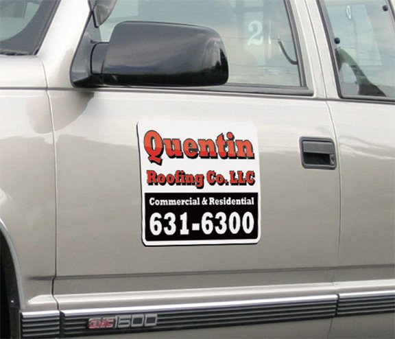 Example of custom car door magnet