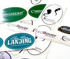 custom oval roll label samples printed by websticker