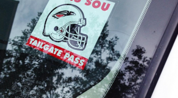 Tailgate pass window parking decal custom printed by Websticker