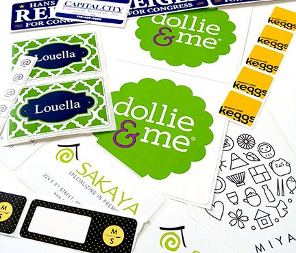 custom rectangle sticker labels printed on rolls by Websticker