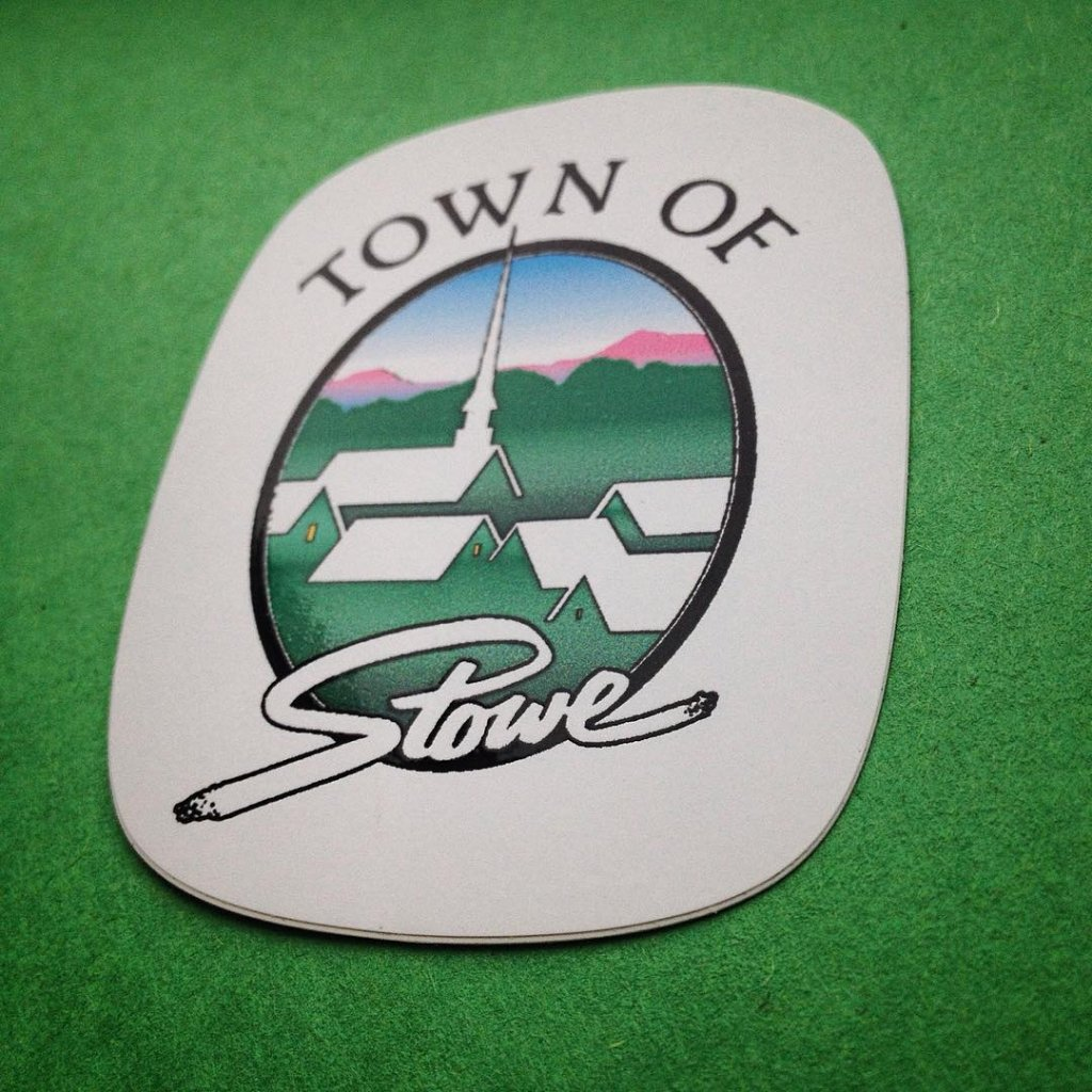 custom Stowe hard hat helmet sticker made by websticker