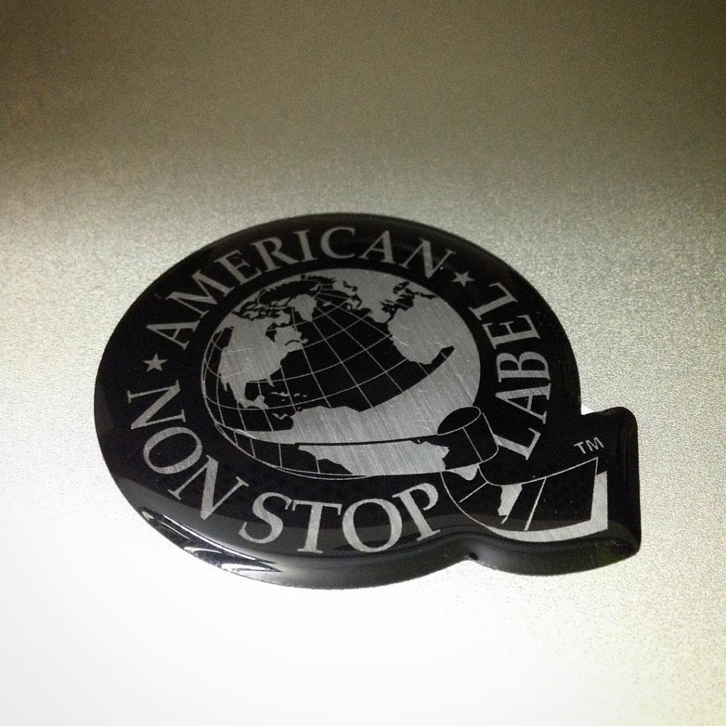custom domed sticker produced by Websticker