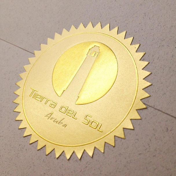 Custom foil or embossed labels offer a high end look at a low end price