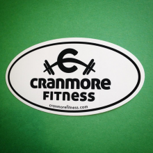 Custom euro oval sticker made for Cranmore Fitness by Websticker