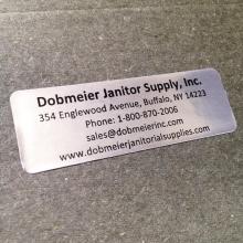Dobmeier sticker custom printed at Websticker