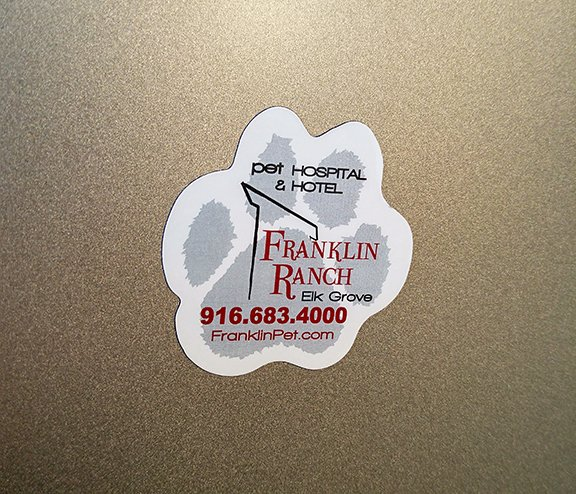 custom paw shaped refrigerator magnets made by Websticker