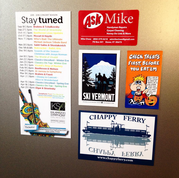 Sample refrigerator magnets custom made by Websticker