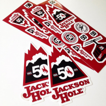 Jackson Hole die cut stickers printed by Websticker