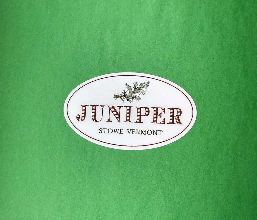 custom oval roll label printed for Juniper by Websticker