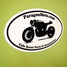 Paragon Moto oval sticker printed by Websticker