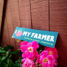 RI farmer bumper sticker printed by Websticker