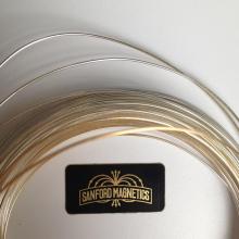 Sanford Magnetics gold chrome sticker printed by Websticker