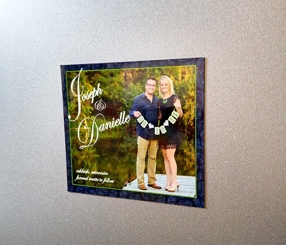 custom full color save the date magnets made by Websticker