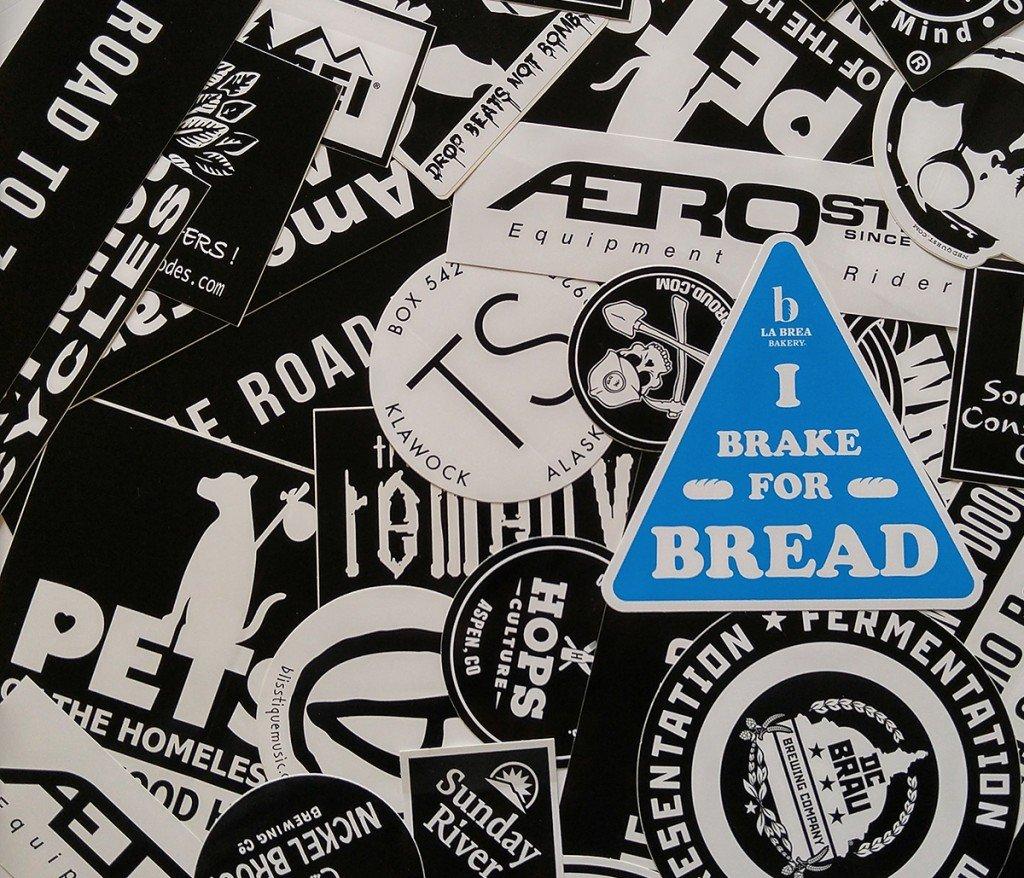 triangle, vinyl, screen printed stickers custom printed by Websticker