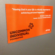 Uncommon Individual custom fridge magnet made by Websticker