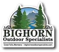 custom vinyl offfset printed sticker made for Bighorn Outdoor Specialists by Websticker
