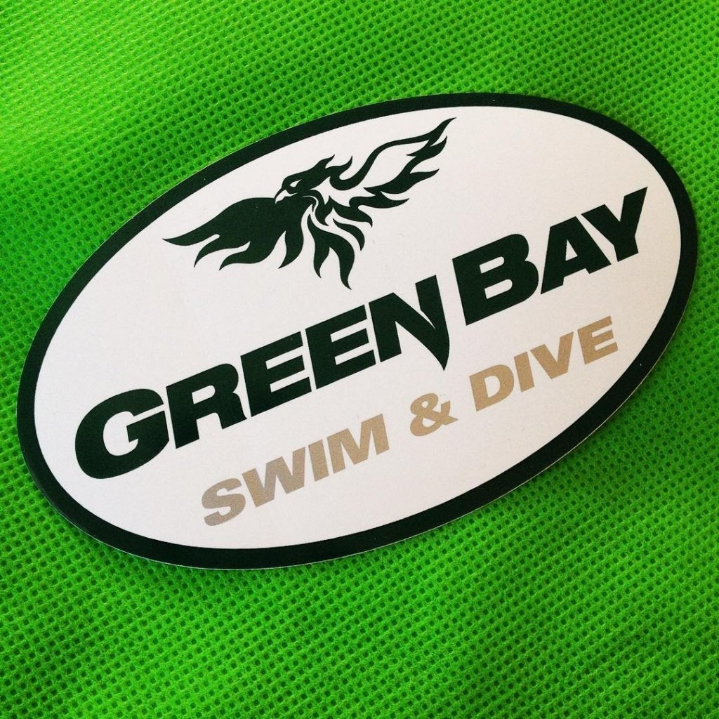 custom oval sticker for Green Bay Swim & Dive made by Websticker