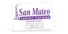 custom parking permit cling stickers and decals for inside car window