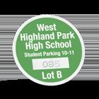 custom clear window parking permit made by Websticker