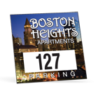custom square parking permit stickers with numbering by Websticker