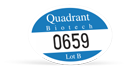 custom oval bumper parking decal with numbering made by Websticker