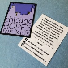 We love being able to help #nonprofit organizations like @chicagohopesforkids spread their message with the power of #stickers!  Check out Chicago HOPES for kids - they are an amazing organization dedicated to helping to provide educational support for children living in homeless shelters. #chicagoHOPESforkids