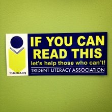 Another great #sticker for another amazing #nonprofit organization!  Check out #TridentLiteracyAssociation and let's help those who can't read!