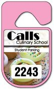 Custom hang tag parking permit with numbering made by Websticker