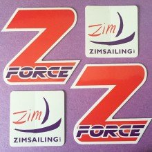 Custom Die Cut Vinyl Sticker Made for Zim Sailing by Websticker