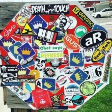 Where do you put your stickers? Tag us in the photos! 📸: @acidoticracing! #stickerslap #stickers #marketing #branding #fun #vermont