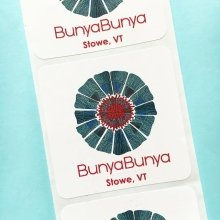 Looking to dress up your shopping bags? Purchase custom paper roll labels! These look great @bunyabunya.vt #shopping #boutique #stickers #branding #marketing