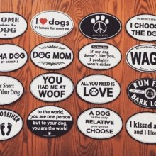 🐶 Life is short. Play with your dog! 🐶 #nationaldogday #magnets #stickers #dogs #woof #dogsofinstagram