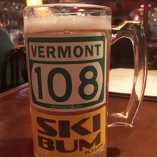 A local Stowe bar, The Matterhorn, has a wall full of local's mugs that are personalized with stickers! We think it's pretty cool! #stickers #beer #Stowe #Vermont #local #marketing #branding