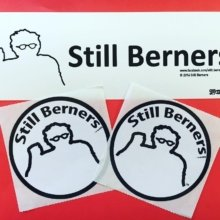 They also have 'Don't Blame Me, I Voted for Bernie' bumper stickers! 👊@stillberners #berniesanders #stickers #branding #marketing #politics #election2016 #vtpride #vermont #burlingtonvt #btv