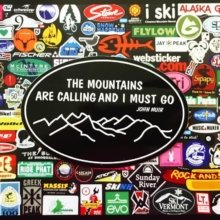 Fall is here which means ski season is nearby! Where do you #ski? #fall #winter #mountains #stickers #marketing #branding #snowboard