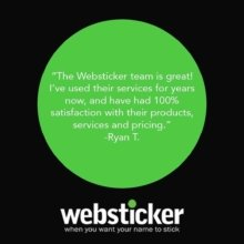 We 💚 our customers! #webstickerlove #review #quote #marketing #branding #stickers