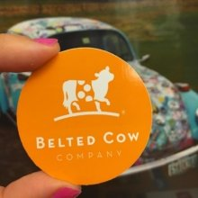 Love these little #stickers, @beltedcowcompany! 🐮 . . #stickit #guerillamarketing #marketing #branding #stickthis #websticker