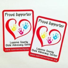 The Luzerne County Child Advocacy Center does some amazing work! We are very excited to have partnered with them to create these beautiful stickers! #freelyfund❤️ . . #stickers #nonprofit #marketing #branding #fundraising #charity #stickit #stickthis #guerillamarketing #websticker #proudsupporter #luzernecountycac