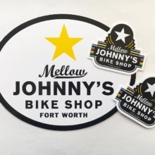 Check out these awesome die cut bike frame #stickers! Make sure you are #branding all of your products with stickers the customer won't want to take off! 🚴 . . #sticker #marketing #guerillamarketing #brand #promotional #bikelife #bikeshop #shoplocal