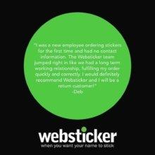 Thanks Deb! 💚 . . #customerservice #customerappreciation #review #trustpilot #marketing #stickers #promotional