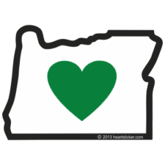 The original heart in oregon sticker which launched a successful sticker company