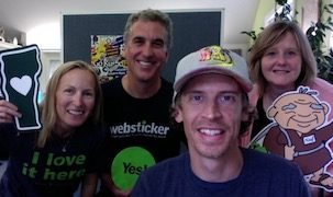Lesley Clark, Jeff Nicholson, Brian Neilson, Chris DeRienzo at Websticker